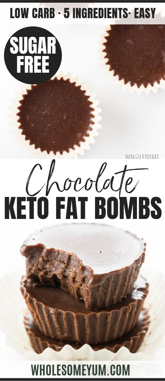 Keto Chocolate Fat Bombs - Pinterest image