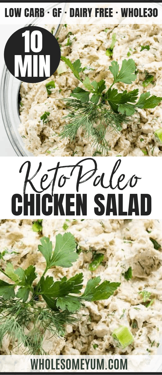 Easy Keto Low Carb Chicken Salad - Pinterest image