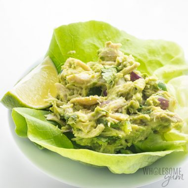 Paleo Whole30 Chicken Salad Recipe with Avocado, Lime and Cilantro