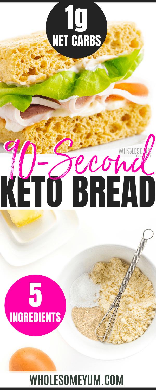 90 second bread recipe pin