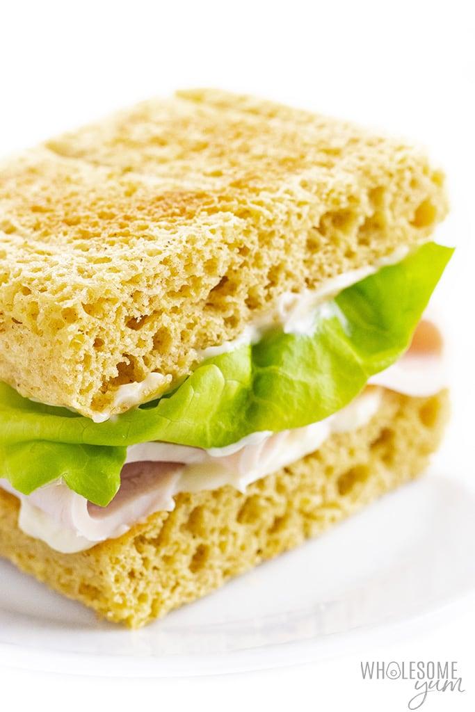 Keto sandwich using 90 second bread