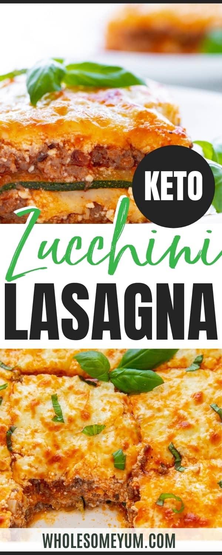 Easy zucchini lasagna recipe pin