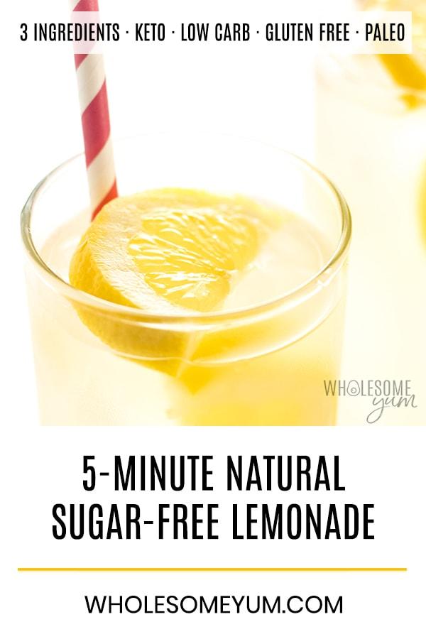 Healthy Sugar-Free Lemonade Recipe - 3