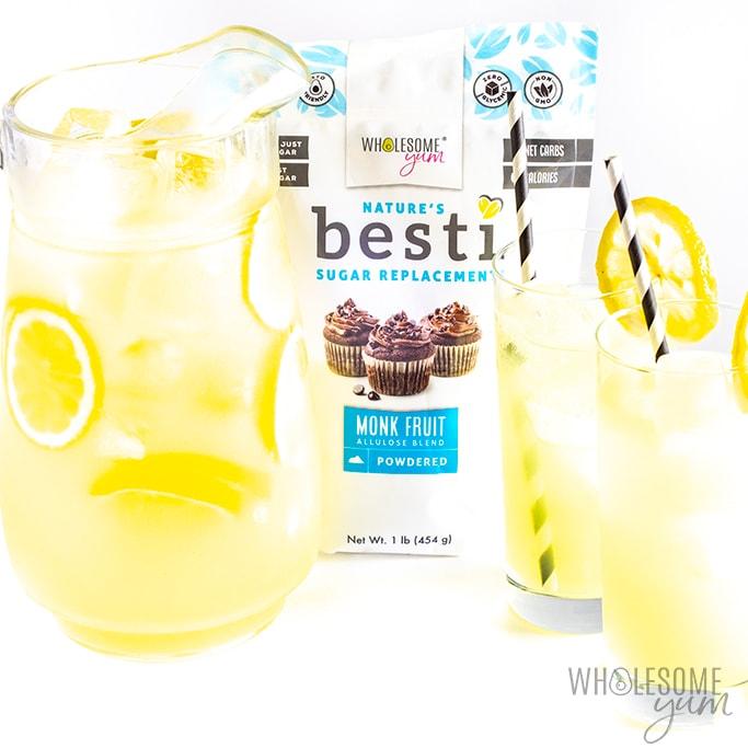 Healthy Sugar Free Keto Lemonade Recipe 3 Ingredients