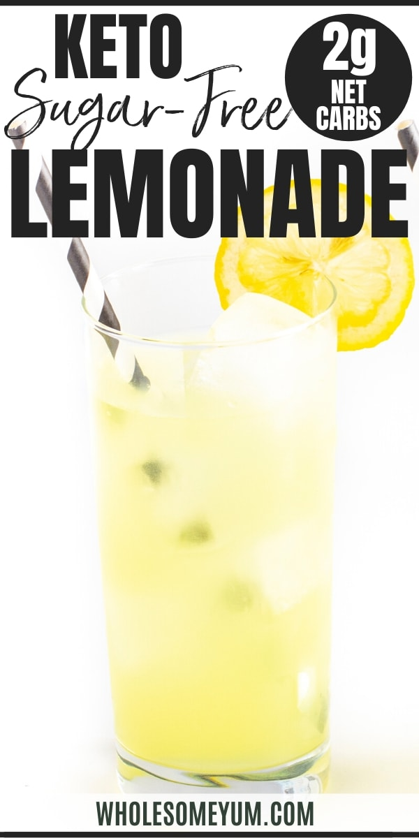 Sugar-free keto lemonade recipe - pin image