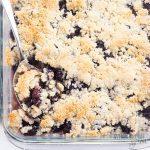 Healthy Sugar-Free Low Carb Blackberry Cobbler Recipe - This easy sugar-free blackberry cobbler recipe needs just 10 minutes prep! So delicious, no one will know this is a low carb blackberry cobbler. Detail: healthy-sugar-free-low-carb-blackberry-cobbler-recipe-2