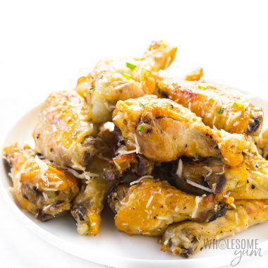 Easy Slow Cooker Garlic Parmesan Chicken Wings Recipe