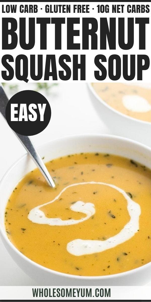 Low Carb Keto Butternut Squash Soup