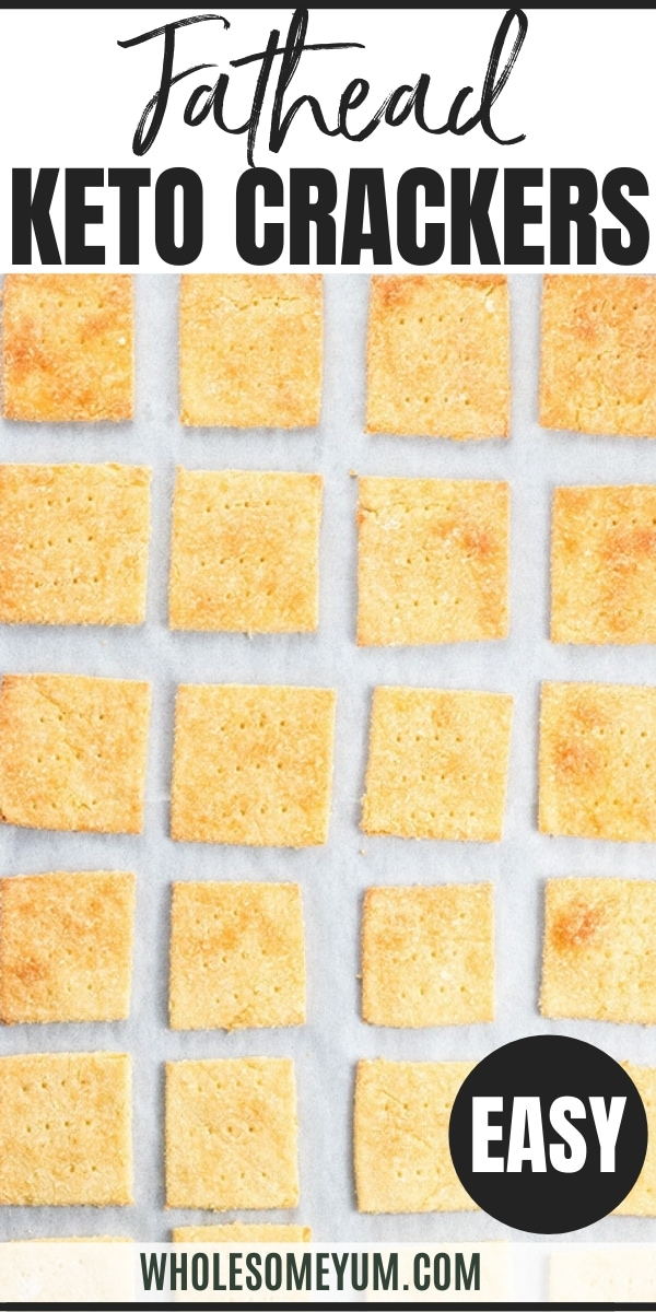 Keto Fathead Crackers with Coconut Flour Recipe - Fathead crackers with coconut flour are easy and delicious! This keto crackers recipe needs just 3 basic ingredients to make.