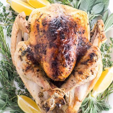 Easy Garlic Butter Herb Roasted Turkey Recipe