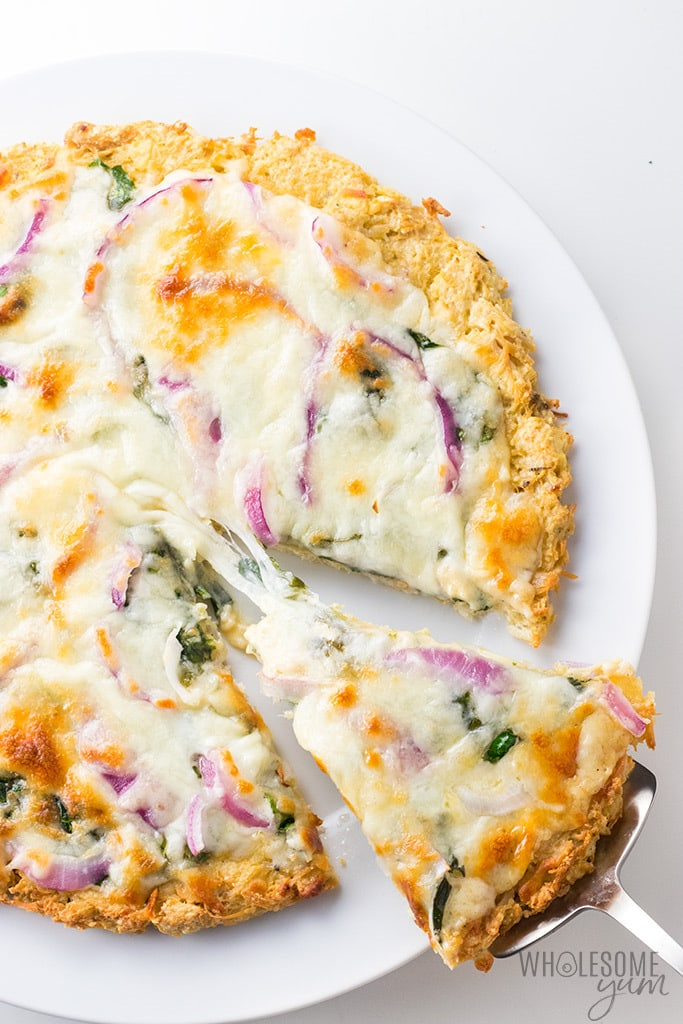 Low Carb Keto Chicken Crust Pizza Recipe Wholesome Yum