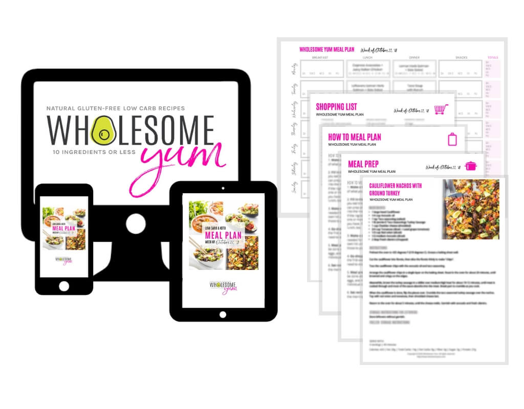 Easy Weekly Low Carb Keto Meal Plan Wholesome Yum