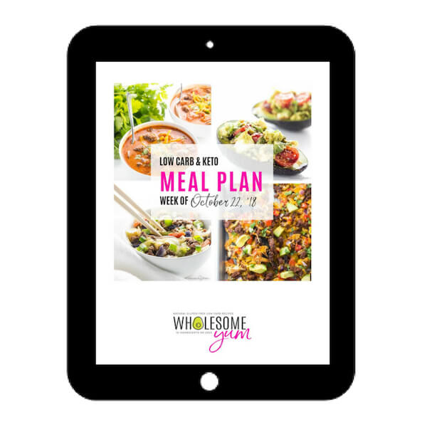 Wholesome Yum Low Carb Keto Meal Plan - Cover - 10-22-18