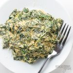 Easy Low Carb Keto Creamed Spinach Recipe with Cream Cheese - How to make creamed spinach in 15 minutes! This easy, low carb keto creamed spinach recipe with cream cheese needs just a few common ingredients. Detail: easy-low-carb-keto-creamed-spinach-recipe-with-cream-cheese-4