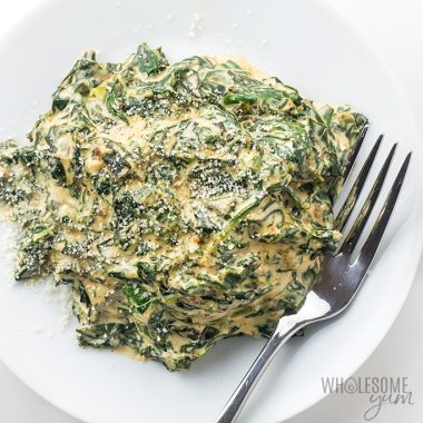 Easy Low Carb Keto Creamed Spinach Recipe with Cream Cheese