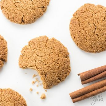 Low Carb Gluten-Free Ginger Snaps Cookies Recipe - This gluten-free ginger snaps recipe tastes like the real thing! You only need 6 ingredients and one bowl to make these easy low carb ginger snaps cookies. Detail: low-carb-gluten-free-ginger-snaps-cookies-recipe-4
