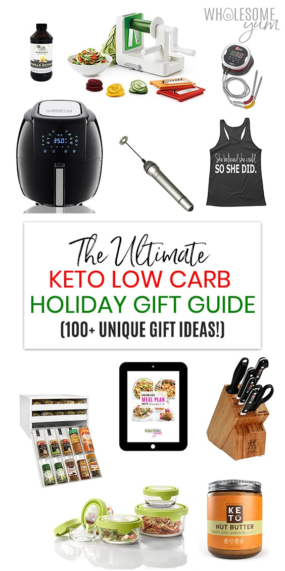 Holiday Gift Guide with 100+ Keto Low Carb Gift Ideas