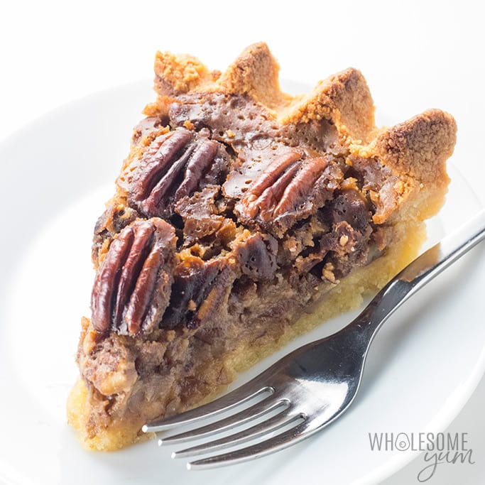 The Best Keto Sugar Free Pecan Pie Recipe Wholesome Yum