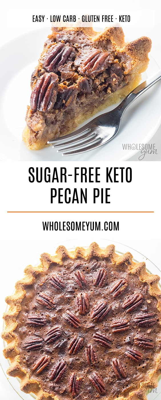 The BEST Keto Sugar-Free Pecan Pie Recipe - This keto pecan pie recipe is the only one you'll ever need for the best sugar-free pecan pie ever! Easy to make and just like the real thing.