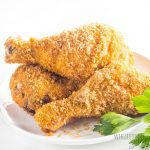 Air Fryer Keto Low Carb Fried Chicken Recipe - The best low carb fried chicken ever! This keto fried chicken is so crispy, you won't believe it. The secret to this air fryer fried chicken is the perfect grain-free breading.