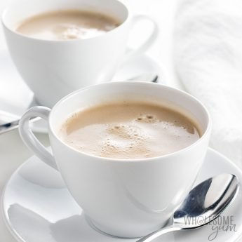 Keto Bulletproof Tea Recipe - This keto bulletproof tea recipe is ready in minutes! It's rich and creamy like a latte, but also lighter than many keto drinks.
