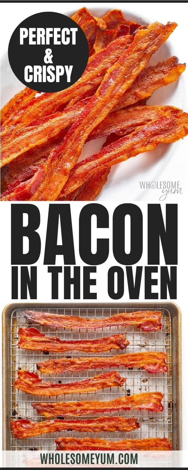 How to make bacon in the oven: recipe pin