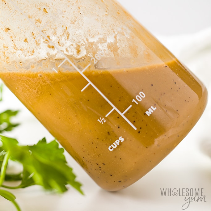 Creamy Balsamic Dressing Recipe - Closeup