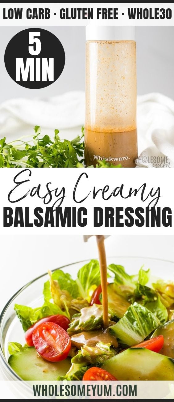 Creamy Balsamic Dressing - Pinterest image