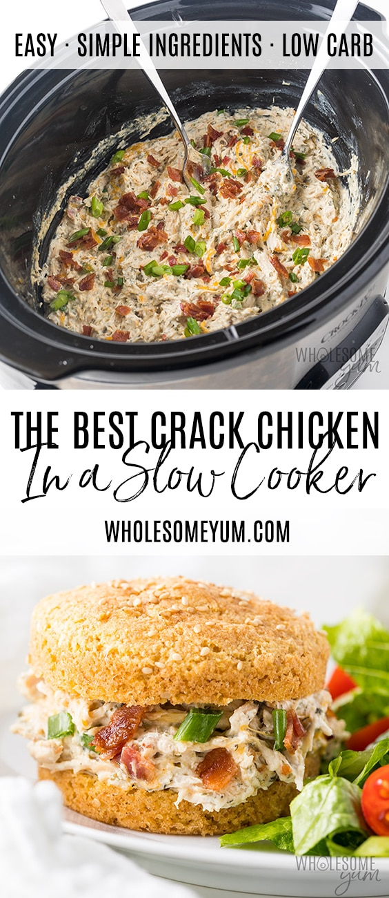 Crock Pot Slow Cooker Crack Chicken Recipe - Pinterest Pin