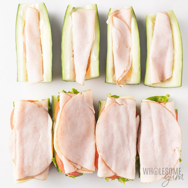 Cucumber subs recipe - how to assemble them with turkey