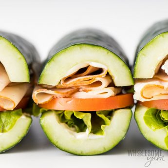 Cucumber subs recipe - front view