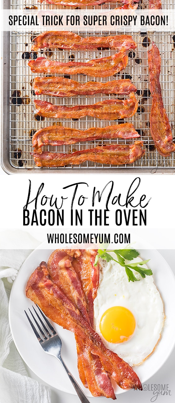How To Cook Bacon in the Oven (The Best Way!) | Wholesome Yum