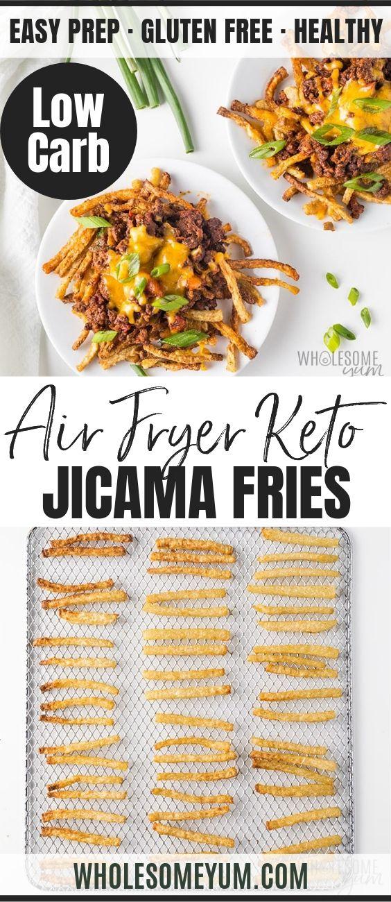 Keto Air Fryer Jicama Fries - Pinterest image