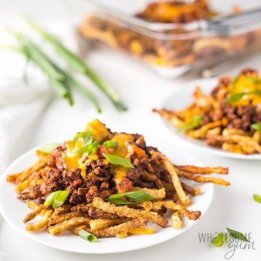 Keto Air Fryer Jicama Fries Recipe (Chili Cheese Fries!)
