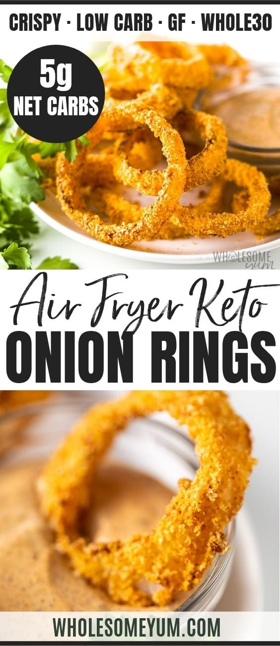 Air Fryer Keto Onion Rings - Pinterest image