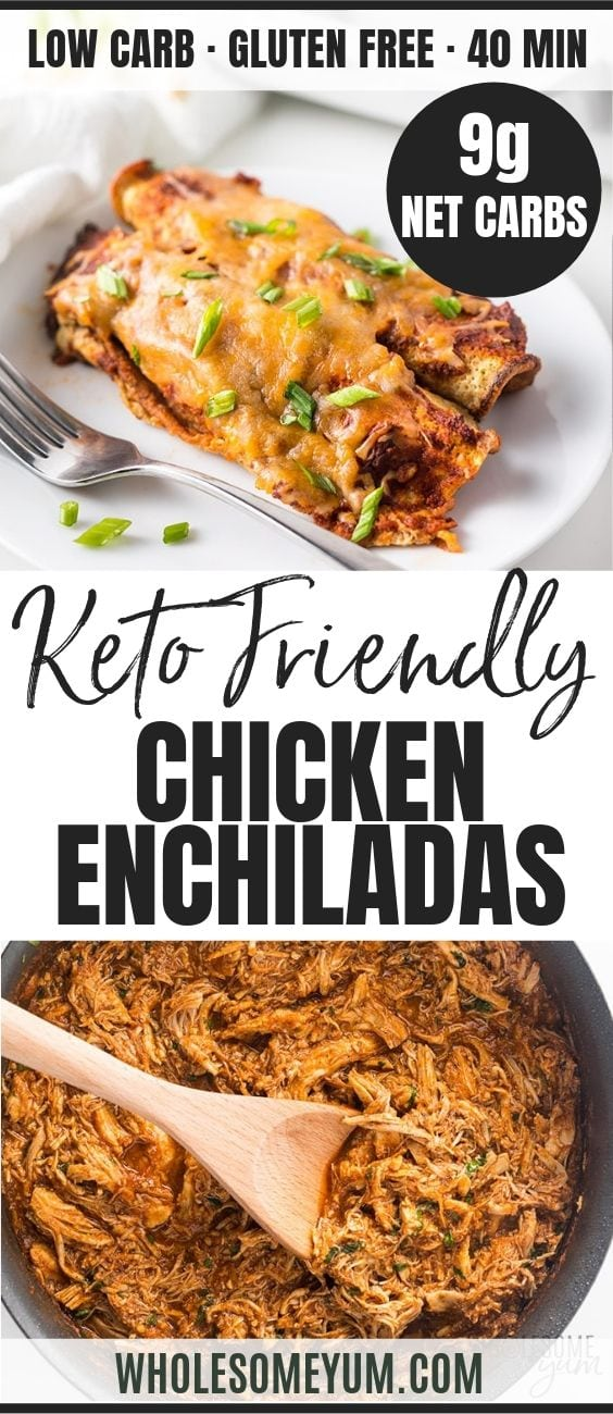 Low Carb Chicken Enchiladas - Pinterest image