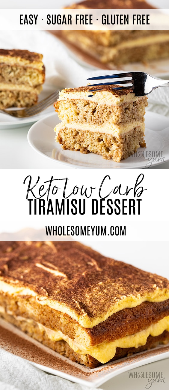 Low Carb Keto Tiramisu Recipe - Pinterest pin