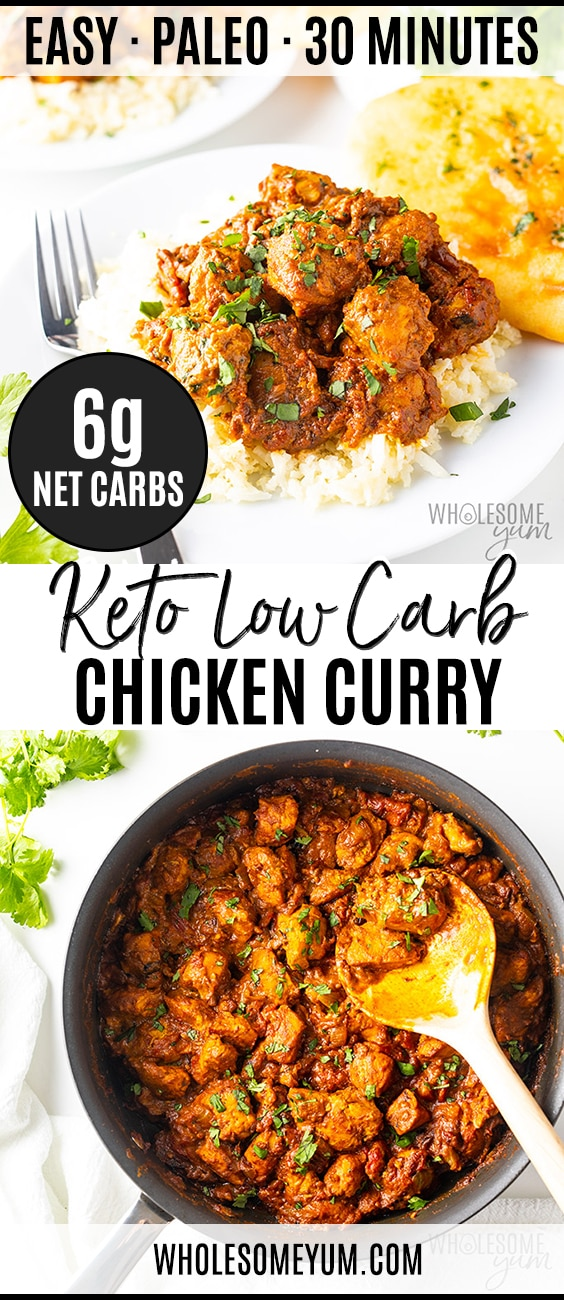 Keto Low Carb Curry Recipe - Pinterest pin