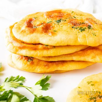 stack of low carb keto naan bread