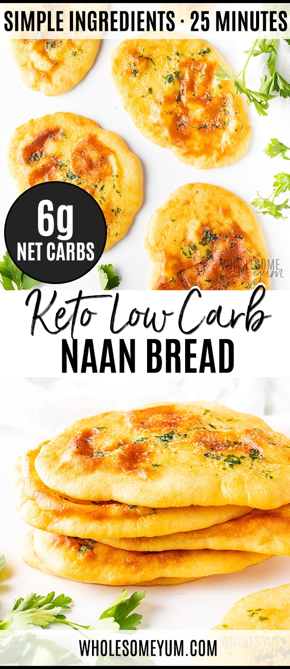 Low carb keto naan bread - Pinterest image
