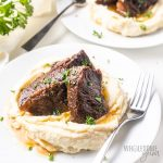pressure cooker short ribs recipe over cauliflower mash