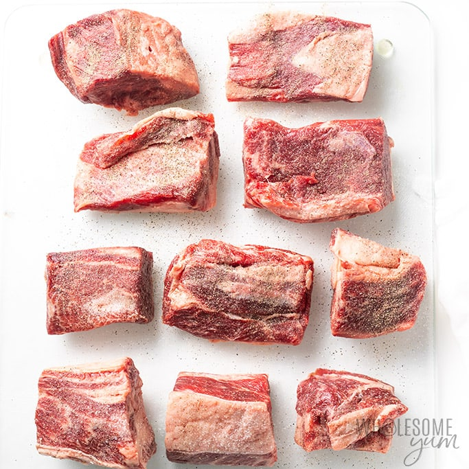 boneless beef short ribs with salt and pepper