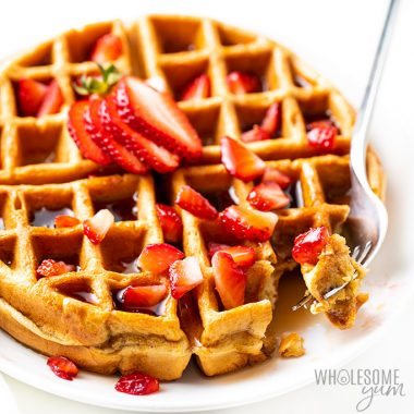 Easy Vanilla Low Carb Protein Waffles Recipe