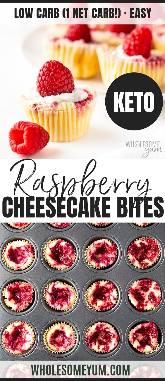 Keto cheesecake bites - Pinterest image