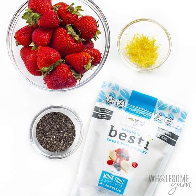 Sugar free strawberry jam ingredients