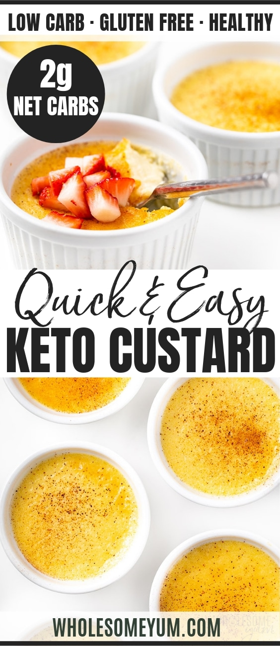 Easy keto custard recipe - Pinterest image