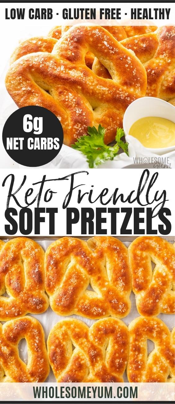 Low carb keto soft pretzels recipe
