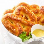 Low carb soft petzels in basket
