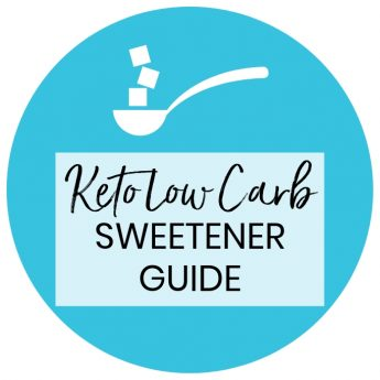 Natural Low Carb Sweetener Conversion Chart - Includes erythritol, xylitol, stevia, Swerve, Truvia, THM blends, Lakanto Monkfruit Sweetener, & more sugar-free low carb sweeteners!