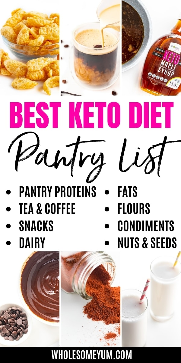 Keto Low Carb Shopping List For Your Pantry - A complete keto low carb shopping list to keep your low carb pantry stocked! Plus, find all the other keto foods to buy. Grab this keto shopping list and you'll have everything you need. Detail: keto-low-carb-shopping-list-for-your-pantry-1